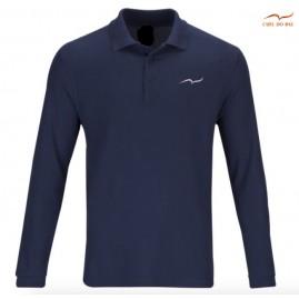Polo bleu marine en coton...