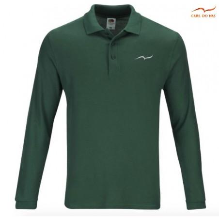 Polo vert en coton piqué pour homme avec logo brodé de CARL DO NAS