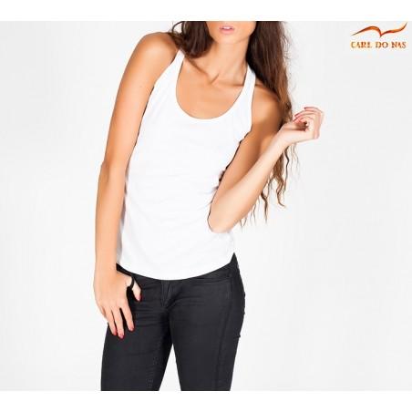 Camisola de alças mulher branca de CARL DO NAS