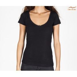 Women's black V-neck...