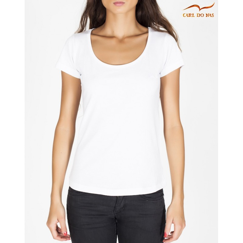 890a17f3904ba4 Women s white round neck t-shirt by CARL DO NAS Color White Size XS