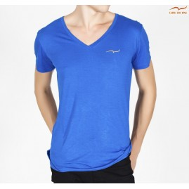 Men's blue T-shirt v-neck...