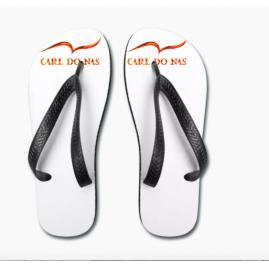 Unisex white flip flops...
