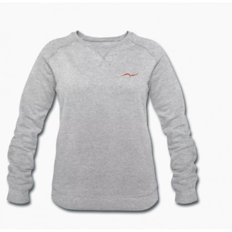 Women's heather gray organic sweatshirt