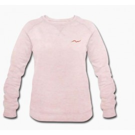 Sweat-shirt rose crème bio...