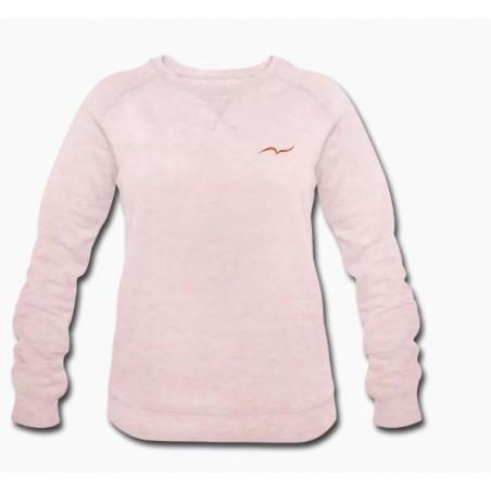 Women's organic rose cream sweatshirt