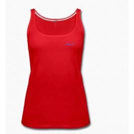 Débardeur rouge sport femme