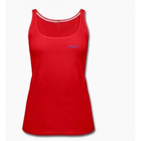e52cefbe9 Camisola de alças vermelha de desporto para mulher de CARL DO NAS ...