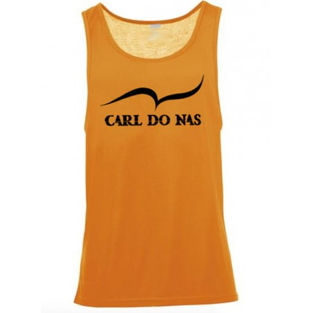 Orange longsleeve with printed logo for men by CARL DO NAS