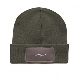 Embroidered gray beanie by...