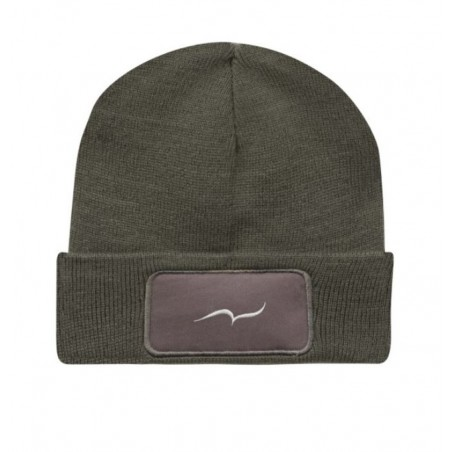 Embroidered gray beanie by CARL DO NAS
