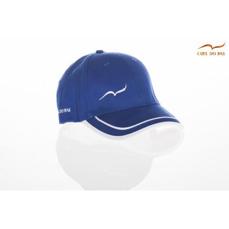 Casquette golf bleu avec bandes blanches CARL DO NAS