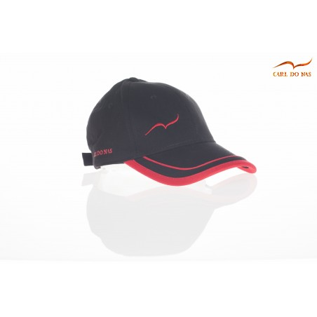 French black and red golf cap by CARL DO NAS