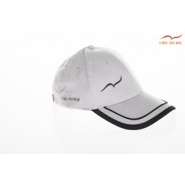 Gray golf cap with black...