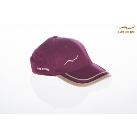 Bordeau golf cap with gold stripes CARL DO NAS