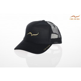 French black trucker cap by...