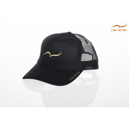 French black trucker cap by CARL DO NAS