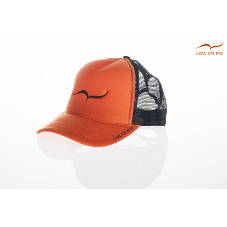 French orange trucker cap by CARL DO NAS